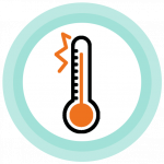 temperature showing fever icon